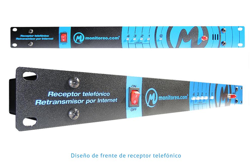 Diseño de frente de receptor telefónico - monitoreo.com - Rofe.com.ar diseño gráfico e ilustración
