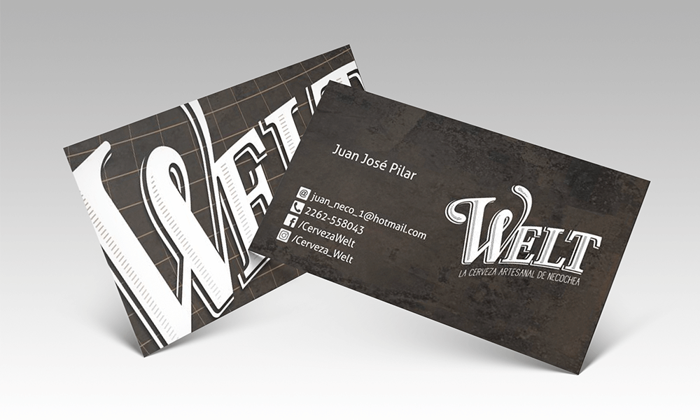 Cerveza Welt - Diseño de tarjetas - Rofe.com.ar diseño gráfico e ilustración