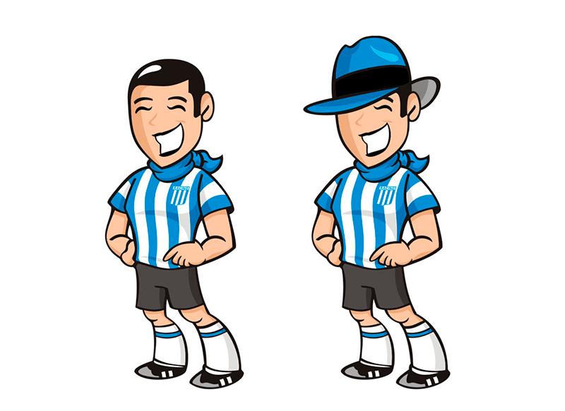 Mascota Racing Club Avellaneda Gardel - Rofe.com.ar diseño gráfico e ilustración