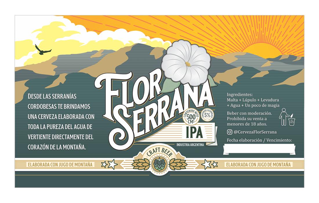 Etiqueta Flor Serrana IPA RofeDG