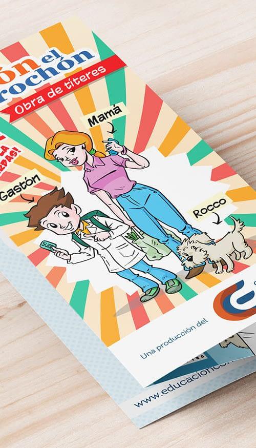 Diseño de folleto triptico para el Centro de educación al consumidor - Rofe.com.ar diseño gráfico e ilustración