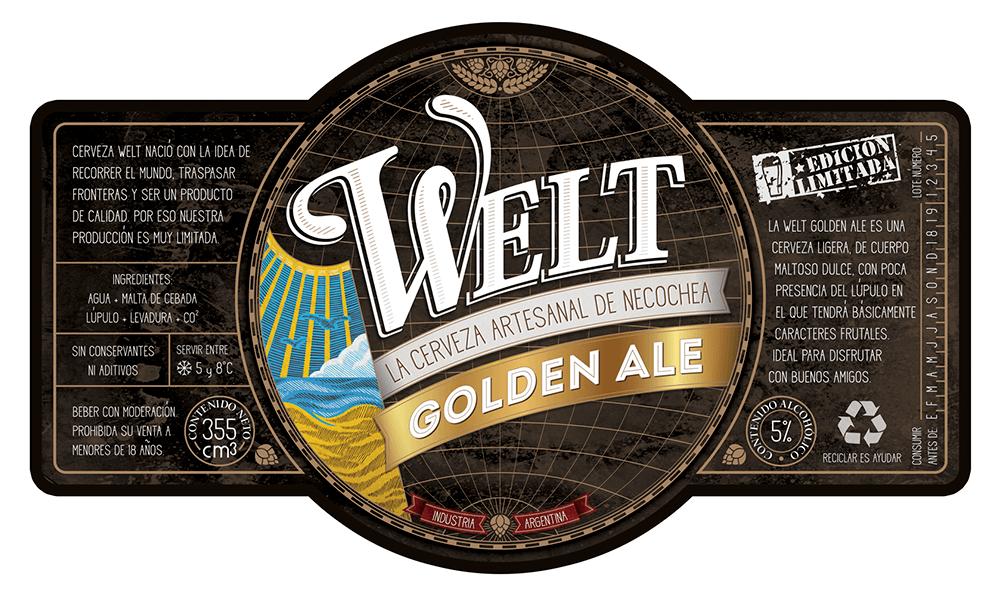 Cerveza Welt - Diseño de etiquetas - Packaging - Rofe.com.ar diseño gráfico e ilustración