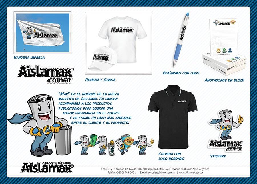 Diseño gráfico para Aislantes Aislamax - Rofe.com.ar diseño gráfico e ilustración