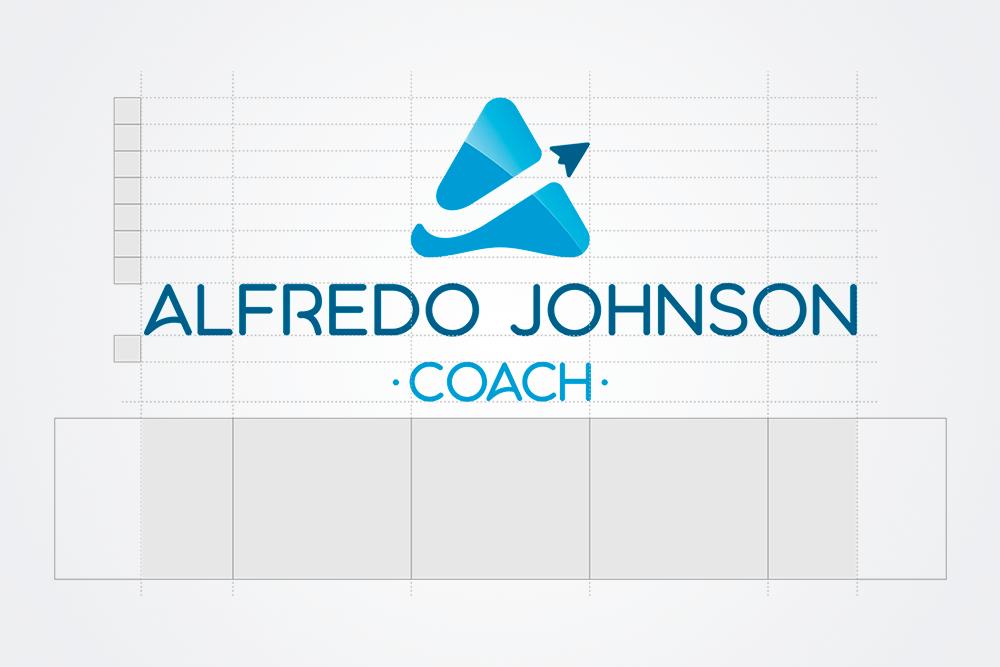 Logo Alfredo Johnson - grilla - Rofe.comar diseño gráfico e ilustración