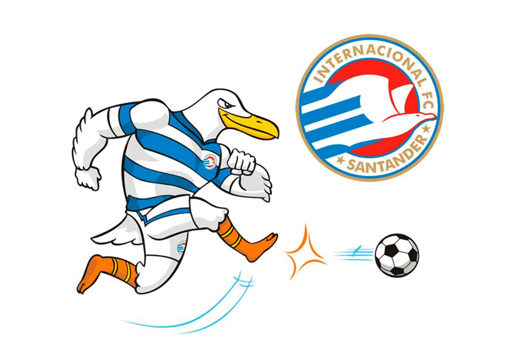 Internacional FC - Diseño de mascota y escudo logo - Rofe.com.ar diseño gráfico e ilustración