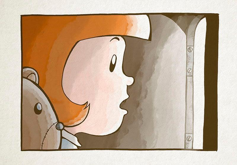 """Página del libro """"Lara y su oso"""" - Rofe.com.ar diseño gráfico e ilustración"""