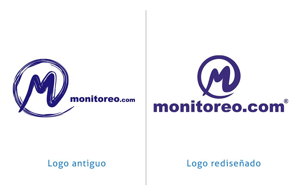 Rediseño de logo para monitoreo.com - Rofe.com.ar diseño gráfico e ilustración