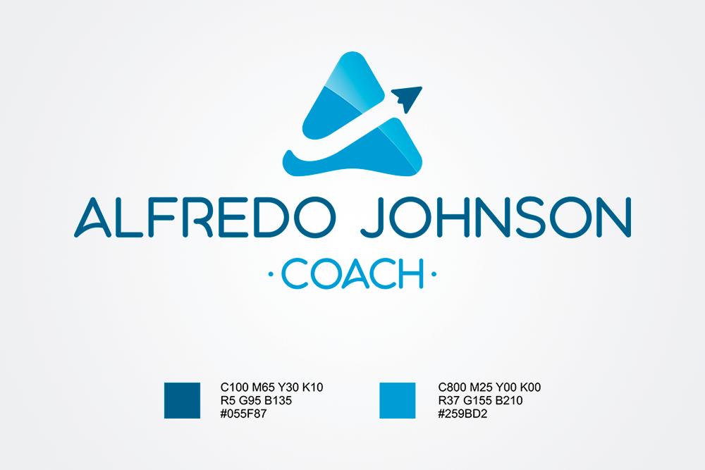 Logo Alfredo Johnson - colores - Rofe.comar diseño gráfico e ilustración